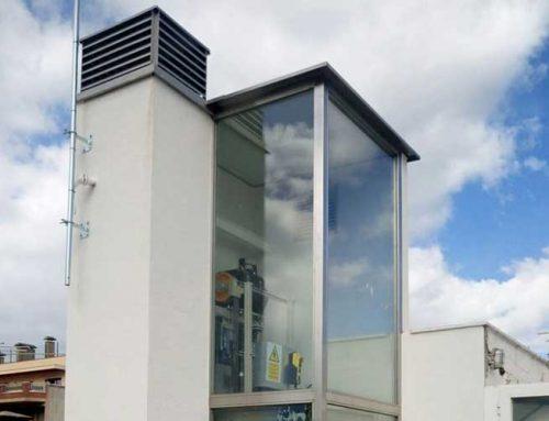 Instal·lació d'ascensor panoràmic – Terrassa
