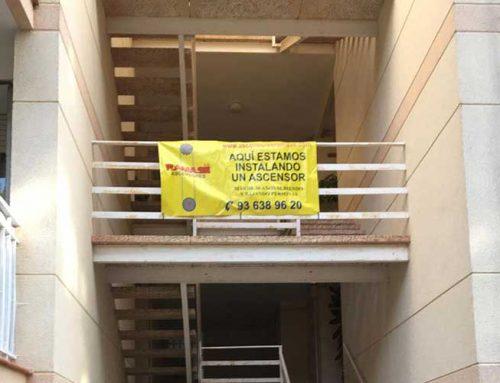 Instalación ascensor Apartamentos Castelldefels