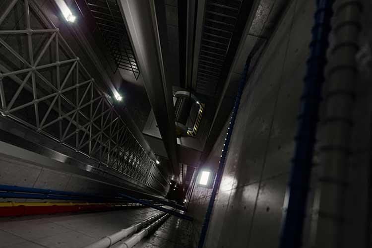 Plataformas hidráulicas, ascensores de carga para almacenes