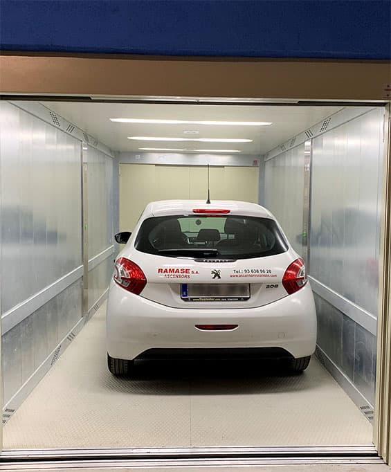 Montacoches, ascensores para coches - Ascensores Ramase